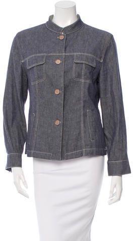 Piazza Sempione Button-Up Denim Jacket
