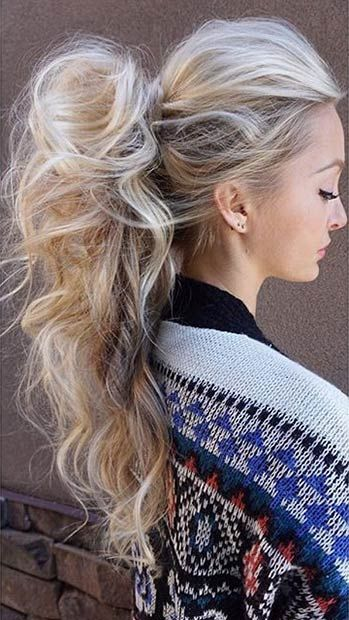 Super Long and Super Messy High Ponytail