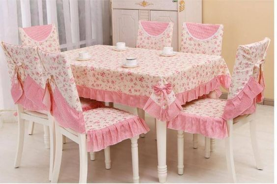 Juego de sillas y comedor forros para sillas pinterest - Forro para sillas de comedor ...