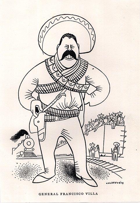 Pancho Villa Miguel Covarrubias Ilustraciones Dibujos
