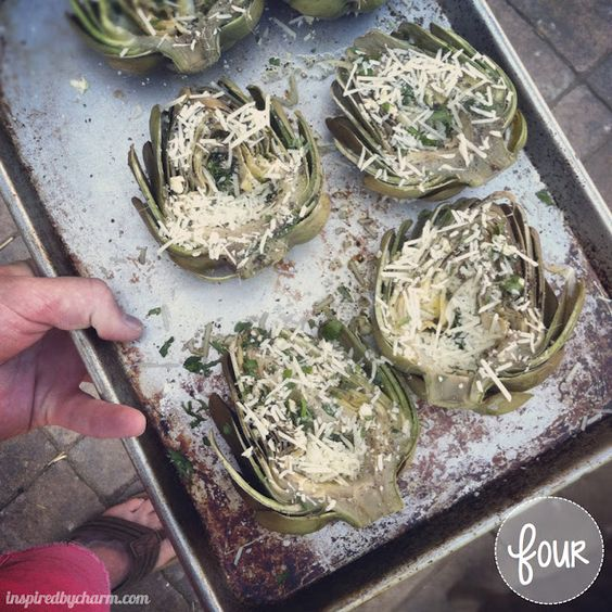 Delicious Grilled Artichokes. They look so elegant on the side of the plate - but wow are they good.   http://www.44steaks.com/angussteaks/