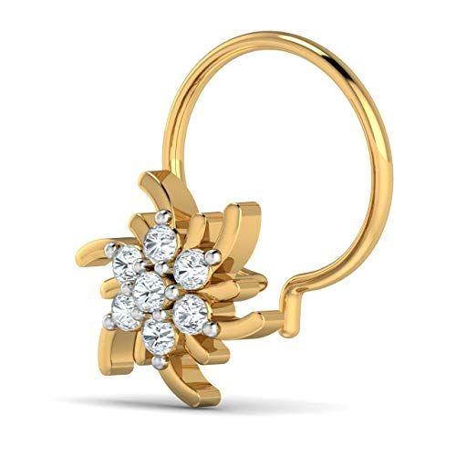 Natural Diamond Nose Ring 0 13ct 18k Solid Yellow White R Https