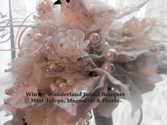 Winter Wonderland Bridal Bouquet @ Mint Juleps, Magnolias & Pearls Blog: