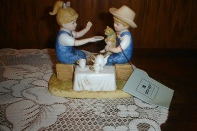 Home Interiors Homco Denim Days Figurine Afternoon Tea