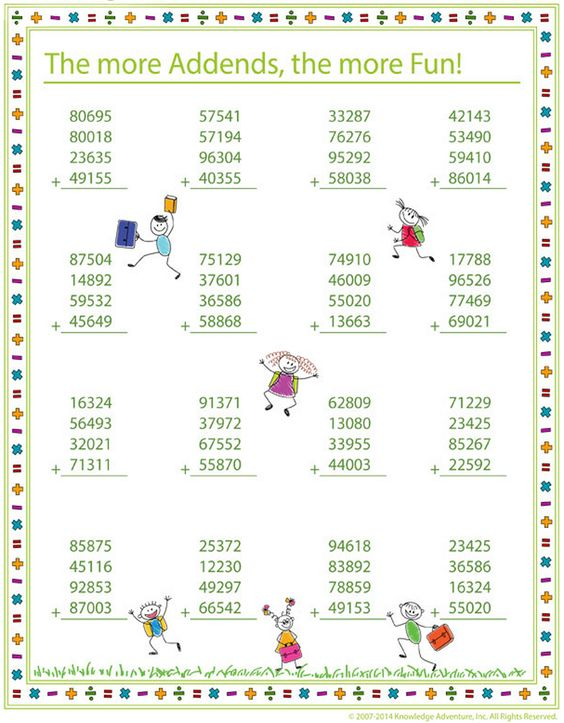 Time to polish the math addition skill with accuracy and speed ...