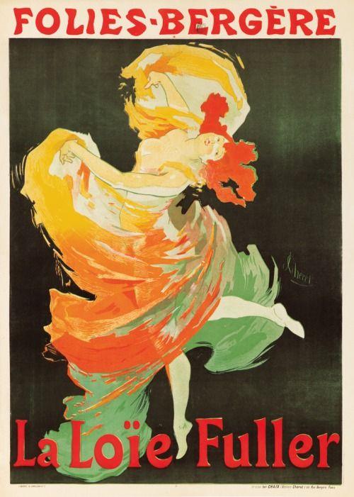 Folies-Bergère: La Loïe Fuller (1893). Concepción del recordado Jules Chéret.