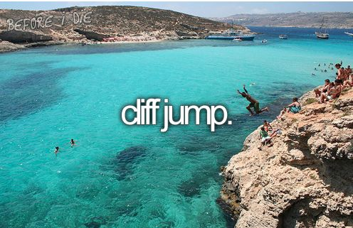 I am a huge fan of lakes and rivers. One of the most exciting things to do is cliff jump, and I hope I'll be able to do that one day.