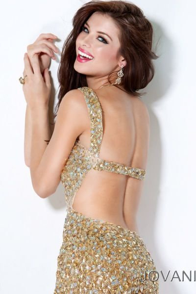 Gold Sequin Prom Dress - ... the Jovani Gold Sequin Mermaid Prom ...