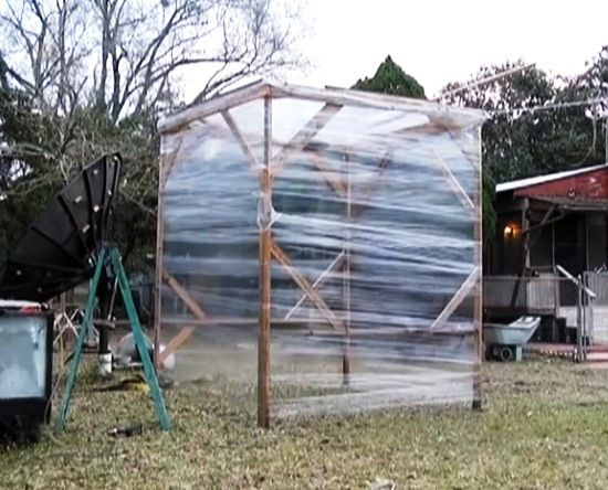 The pristine gothic mansion looks pretty sweet shroud for Build a greenhouse from pallets
