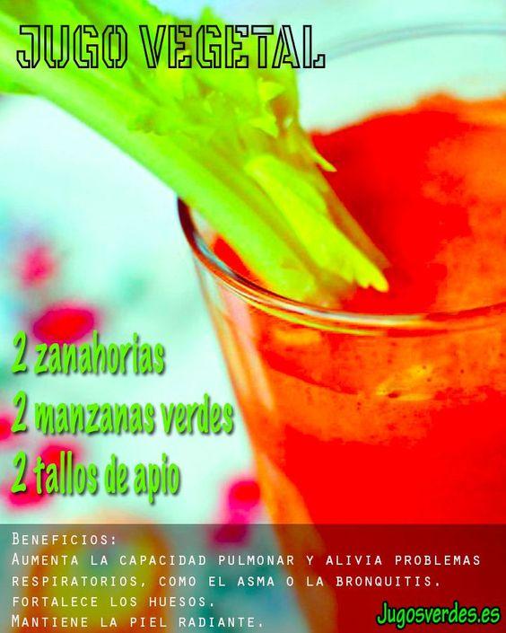 Jugo Verde Para El Asma Y Otros Problemas Respiratorios Smoothies Food Glassware