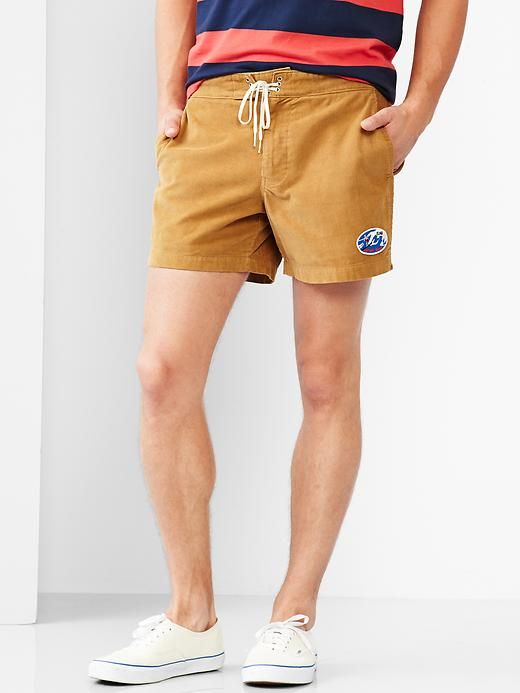 Gap Men   GQ M.Nii Cord Surf Shorts Size 31W - acorn | 29% OFF