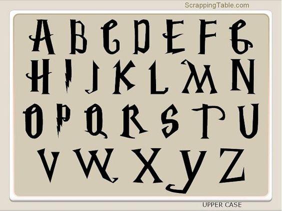 H Letter In Harry Potter Font Printable Free