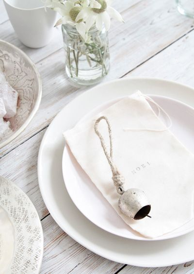 love the idea of a bell. Send guests home with a bit of your resonating love.