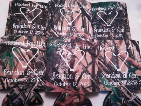 Country Wedding Koozies Design 1000980459 by odysseycustomdesigns