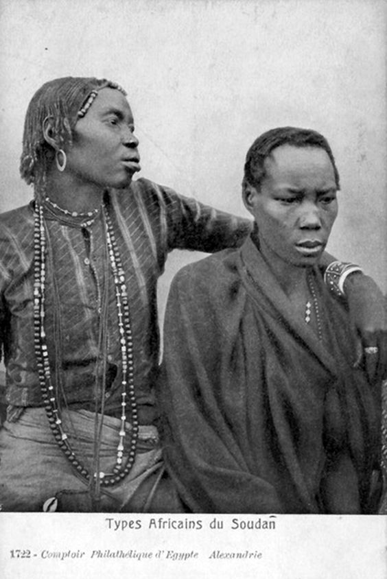 Africa   Types Africains du Sudan.     Vintage postcard; Comptoir Philatélique d'Egypte Alexandrie. N° 1722