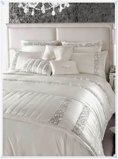 ... bed linens all white bedding sequins linens luxury beds silver