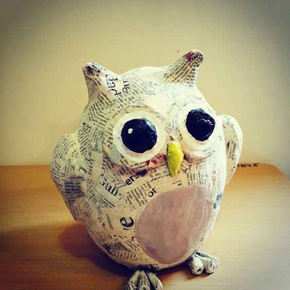 Owl Paper Mache Pinterest