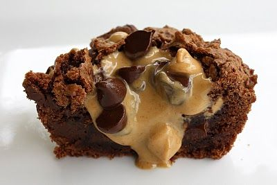 Brownie peanut butter cups - these look Yummy!