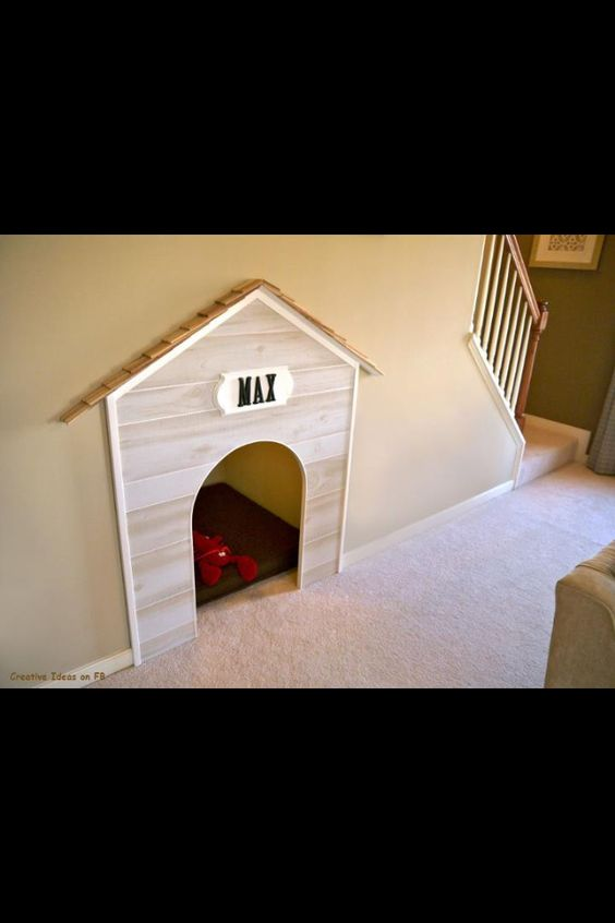 niche sous escaliers r cup ration d 39 espace pinterest for dogs home and home renovation. Black Bedroom Furniture Sets. Home Design Ideas