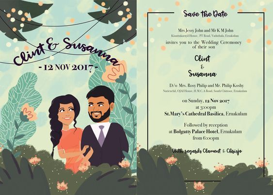 Eco Friendly Wedding Invitations For All Nature Lovers Illustrated Wedding Invitations Eco Friendly Wedding Invitations Digital Invitations Wedding