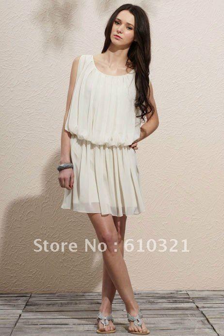 envio gratuito de 2012 vestidos de chiffon de primavera, outono e inverno