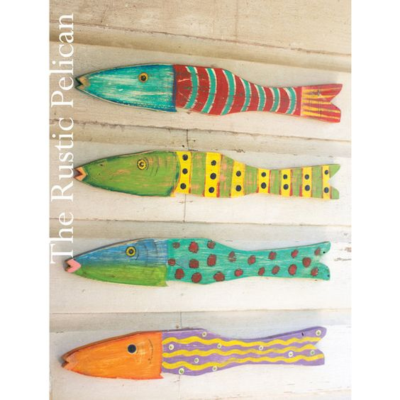 Beach Home Decor -Nautical Wooden Wall Art Coastal Decor -Rustic... (€117) ❤ liked on Polyvore featuring home, home decor, wooden home decor, fish home decor, fish sculpture, wood home decor and wood sculpture