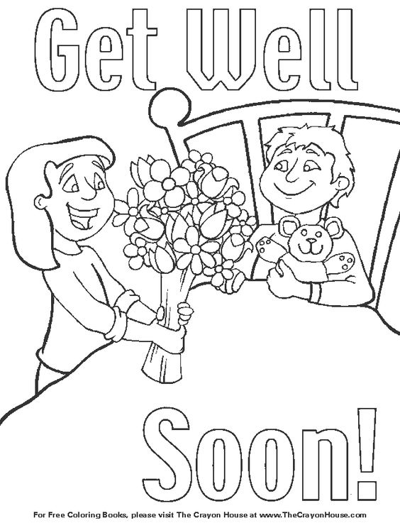 kids get well coloring pages - photo#6