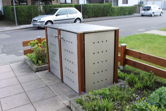 Mülltonnenbox Edelstahl Holz - das Highlight in Ihrer Hofeinfahrt