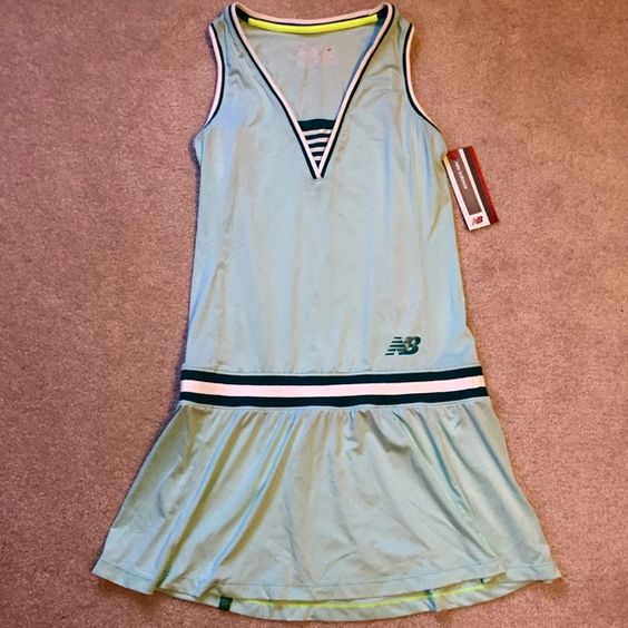New Balance Tiffany Blue Tennis Dress NWT. Brand new, never worn New Balance tennis tournament dress. Super cute Tiffany blue color, sweat wicking material. Got this as a gift but I don't place tennis and have no use for it unfortunately! New Balance Dresses Mini