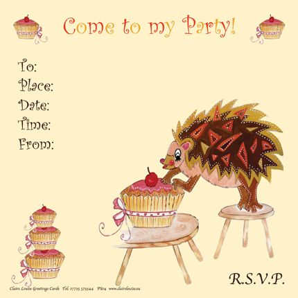 Cute, Children's Party Invitations.  Check out our Penny The Princess, Dexter the Dinosaur, Maisie the Mouse designs and several more on our website… http://www.clairelouise.eu/greetings-cards/social-stationery-party-invitations.html