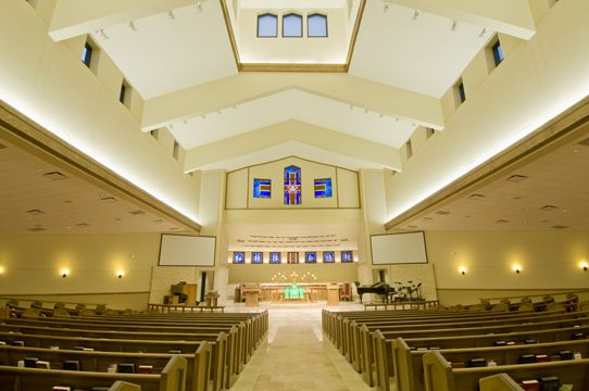 sanctuary designs for small churches white theatrical fixtures tucked behind upper beams are