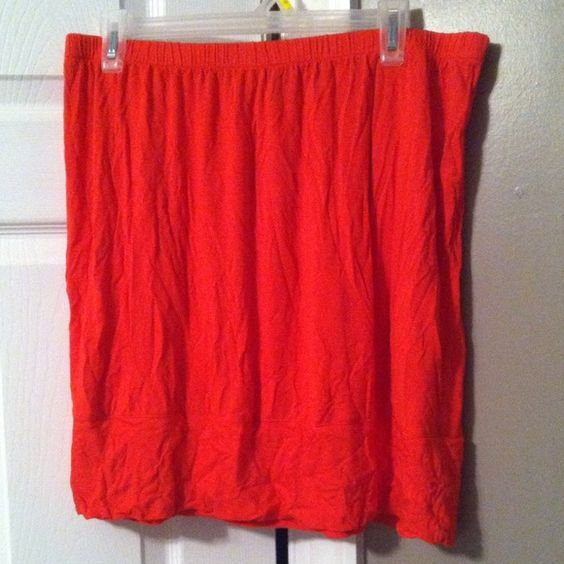 Merona Orange Kirt Stretchy, simple, the perfect skirt Dresses