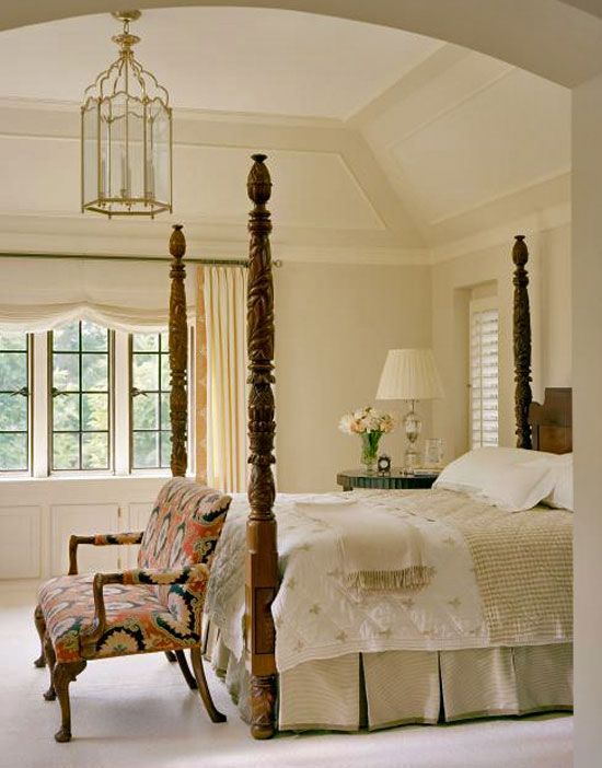 Beautiful neutral bedrooms and ceiling trim on pinterest for Beautiful traditional bedroom ideas