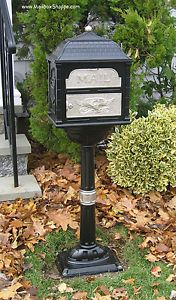 Beautiful-Cast-Mailbox-Gaines-Classic-Series-Mail-box-12-color-accent-combos