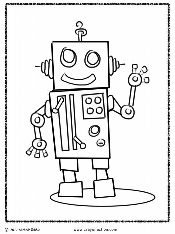 Robot Coloring Page Robot Knutselideeen Kleurplaten