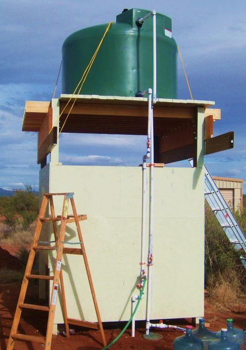 Off Grid Water Tower Off Grid Water Tower And Shower