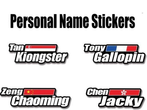 Custom Make Unique Name Stickers For Mountain Road Bike Bicycle