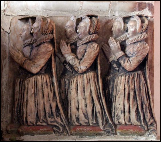 Sir John Clench's daughters | All Saints, Holbrook, Suffolk | Flickr