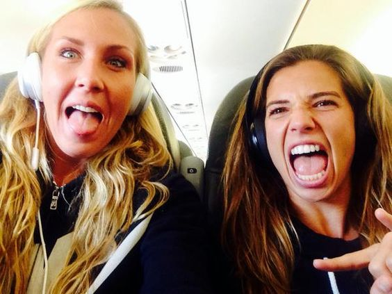 Allie Long and tobin heath