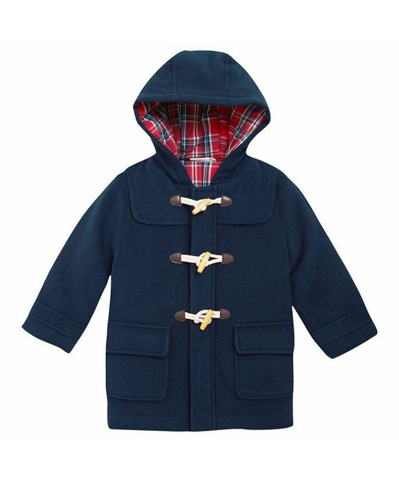 JoJo Maman Bébé Navy Duffle Coat - Infant & Toddler | Coats ...