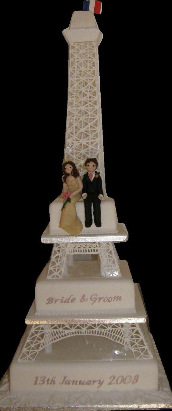 Eiffel pour un mariage sur le thème de Paris.  Mariage thème Paris ...