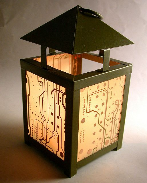 Circuit board lantern.