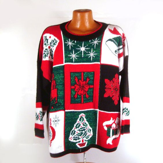 Ugly Christmas Sweater Vintage Party  Love by purevintageclothing Holiday Tacky