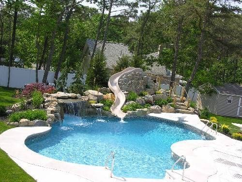 Outdoor pool with slide  Swimming+Pool+Slides | swimming pool designs with slides | Home ...