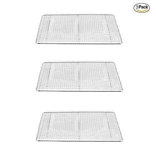 Commercial Quality Stainless Steel Nonstick And Oven Safe Cooling Rack Sheet Ideal For Cooking Baking And Cooling