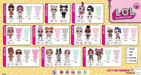 Lol Surprise Series 3 Confetti Pop Guide Lotta Lol Lol Dolls
