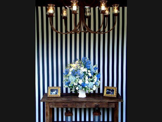 Home wedding: festa de casamento lembra decoração de casa - Notícias - Noivas GNT so nao gostei do lustre... mas o efeito do papel de parede com as flores ficou show!