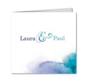 einladungskarten hochzeit aquarell in blautonen