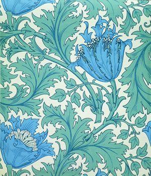 Blue Anemone Wallpaper, William Morris, late 19th century  Victoria and Albert Museum, London