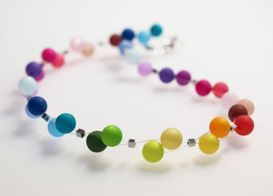 Polariskette ♥ Regenbogenkette von schmuckmanufaktur koenigsblau auf DaWanda.com